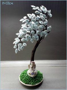 Фотографии Деревья и цветы из Бисера