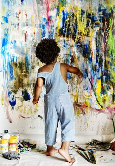 Black kid enjoying his painting photo by Rawpixel on Envato Elements Mother And Child Painting, Painting For Kids, Black Painting, Teen Girl Poses, Kid Poses, Paint Photography, Children Photography, Artists For Kids, Art For Kids