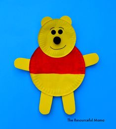 Happy Winnie the Pooh Day! Go all out with this bright and cheerful paper plate craft.
