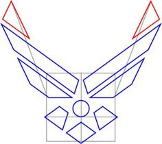 how to draw the air force symbol step 4