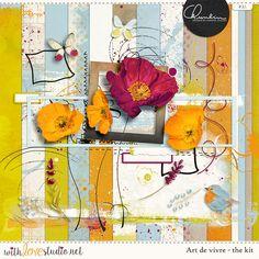 Art de Vivre - digital scrapbooking kit by Chunlin Designs. fun artsy kit perfect for art journaling and mixed media layouts