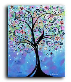Gallery Canvas and Fine Art Prints Colorful por NYoriginalpaintings