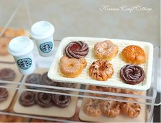 1:6 Scale Miniature Food Donuts Doughnut Bakery Starbucks Coffee Tea Beverage Drinks, Dolls Fake Food Blythe Barbie Azone Momoko Pullip Dal yosd Licca Chan Monster High bjd dolls