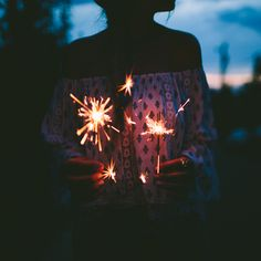 Fireworks are one of my favorite parts about summer time. And sparklers are so small and bright!