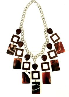 Art Deco agate & shell necklace by Helena Karter Jewellery Design