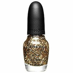SEPHORA by OPI - Jewelry Top CoatsOnly Gold For Me - clear with chunky and micro gold glitter