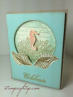 Stampin Up By The Tide beach wedding card by Stamp Right Up