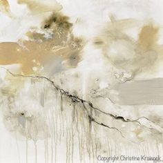 """Art, Abstract Painting, """"Leap of Faith"""" Giclee Print / Canvas Print of Original Fine Art. Modern, Large Art, Wall Art, Contemporary Coastal, Home Decor. Beach Decor. Modern Living room home canvas art neutral earthy shades of grey, taupe, beige, """"greige"""", black & white. Natural colors which come together exhibiting a marbleized stone organic feel. By Contemporary Artist, Christine Krainock"""