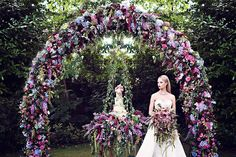A masterpiece of pure prettiness and a glimpse into a Garden of Eden inspired wedding theme that transports us to a bridal paradise with lush blooms.