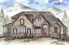 Plan W15627GE: Sweeping Rear Deck with Great Views  / Elevation