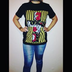 SALE - patchwork fabric tshirt for women