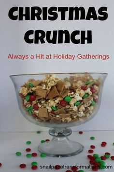 Christmas Crunch: a no bake Christmas treat.