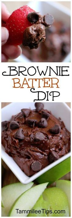 Easy Brownie Batter Dip Recipe you will love! Perfect for an afternoon snack or treat. A great dessert!