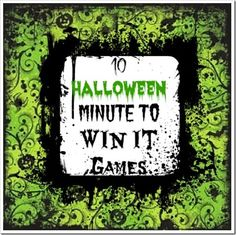 10 Halloween Minute to Win it Games Let The Party Begin!