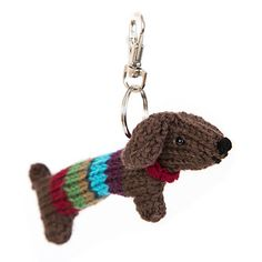 This tiny Stripy Sausage dog is inspired by the larger version in 'Knitted Dogs and Puppies'.