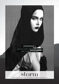 Josephine Skriver's LFW Show Card S/S 2012