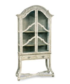 Dutch Cabinet With Glass Doors & Drawers - FURNITURE - Cabinets and Bookcases