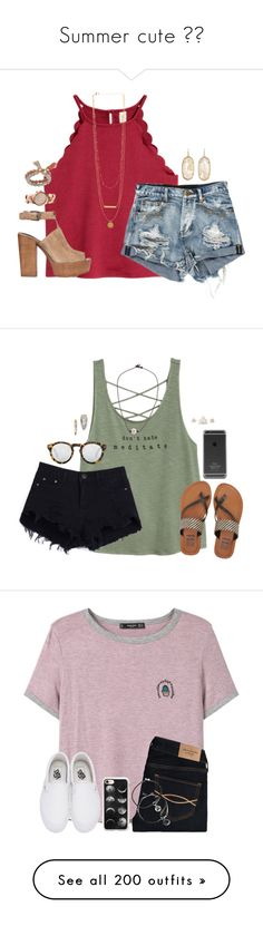 """""""Summer cute 🌞🌞"""" by adunchus ❤ liked on Polyvore featuring Rebecca Minkoff, MICHAEL Michael Kors, Coco Lane, Kendra Scott, Billabong, Illesteva, MANGO, Abercrombie & Fitch, Vans and Casetify"""