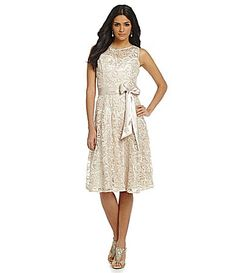 Jessica Howard Soutache Lace FitandFlare Dress #Dillards
