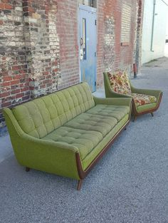 Mid Century Modern Sofa Couch and Chair by RetroAttics on Etsy https://www.etsy.com/listing/385730556/mid-century-modern-sofa-couch-and-chair