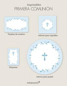 Colección de imprimibles Corona de hojas para comunión