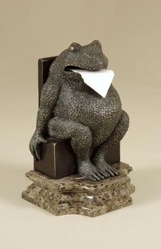 Frog Toilet Paper Holder... love this