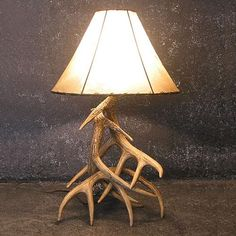antler decorations | Faux Whitetail Three Antler Table Lamp at Rocky Mountain Cabin Decor