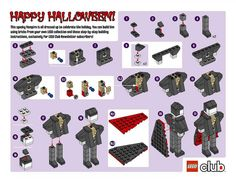 LEGO Vampire Building Instructions from the LEGO Club Newsletter - Issue 10, October 2009. (available for LEGO Club email newsletter subscribers only)