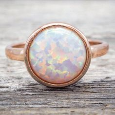 Rose Gold and Opal Ring Available in our 'Mermaid' Collection www.indieandharper.com