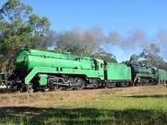 Loco 3801 at Thirlmere, NSW 2005: http://www.australiansteam.com/3801.htm