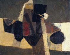 """lawrenceleemagnuson: """" Afro Basaldella (Italy 1912-1976) Il trapezio (1971) oil on canvas 51 x 64 cm """""""