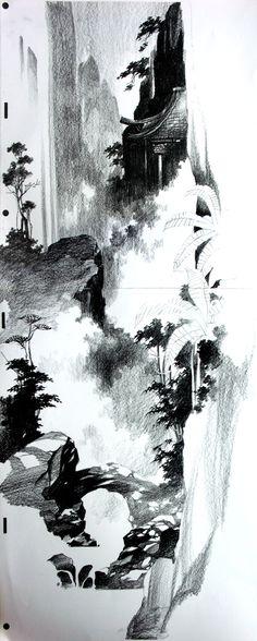 ALEX NINO'S designs for disney's MULAN