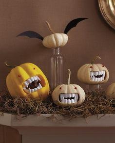 Vampire pumpkins halloween