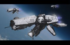 Space Ship a Day 001: Bull Dog Class Destroyer by McKiller.deviantart.com on @deviantART