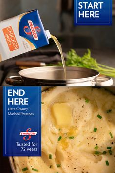 Perfect for all the mamas (and papas) who take Thanksgiving seriously. Made with Swanson Broth, trusted for 72 years. Side Dish Recipes, New Recipes, Favorite Recipes, Healthy Recipes, Recipies, Potato Recipes, Potato Dishes, Food Dishes, Side Dishes