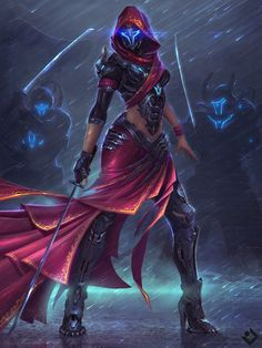 cyberpunk samurai woman warrior in skirt fighter android cyborg female concept art character design Character Concept, Character Art, Concept Art, Character Reference, Fantasy Warrior, Fantasy Girl, Woman Warrior, Fantasy Women, Dark Warrior