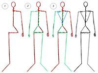 Wire armature - human male. by jvk on deviantART