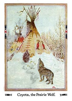 """""""American Indian Fairy Tales"""" - illustrated By John Rae, via Flickr."""