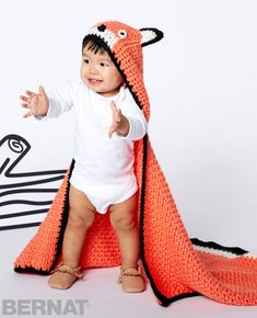 Free Pattern Friday: Feisty Fox Blanket from Yarnspirations!