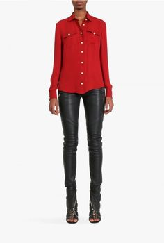Balmain - Silk georgette shirt - Women's shirts - Pre-Fall Winter 2015