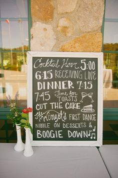 A boogie-down #wedding sign. Click to see the rest of this incredible real wedding in Pennsylvania! Only on @WeddingWire | Rodger Obley Photography