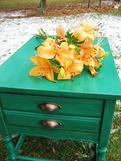 Furniture re-do...love this color!