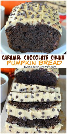 This chocolate pumpkin bread is loaded with chocolate chunks and ...
