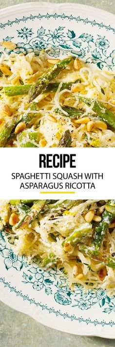 Spaghetti squash takes a dive into a cheesy heap of asparagus. Learn how to cook this healthy alternative to your everyday pasta