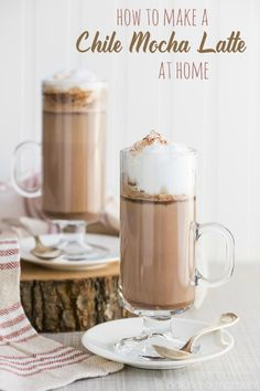 How to Make a Chile Mocha Latte at Home- this tastes exactly like the Starbuck's… recipes drinks coffee Best Dessert Recipes, Tea Recipes, Coffee Recipes, Fun Desserts, Fall Recipes, Smoothie Recipes, Smoothies, Drink Recipes, Keurig Recipes