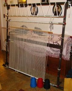 Bed Frame Re Purposed Into Navajo Style Loom. This Is A Great Idea!