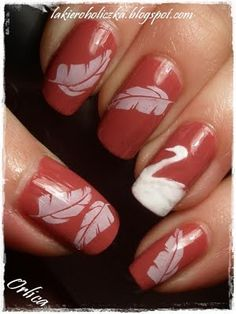 Confessions of a Polishaholic: Swan's Time... (Nail Art)