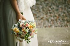 Pretty spring Weddings bouquet - by Chanele Rose flowers ~ Ivy & John - by Clarzzique photography
