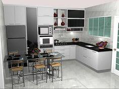 Resultado de imagem para cozinha planejada com janela