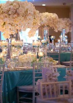 Tiffany Perfect, looks like a fantasy Azul Tiffany, Tiffany Blue, Wedding Themes, Wedding Designs, Wedding Decorations, Themed Weddings, Perfect Wedding, Dream Wedding, Wedding Day